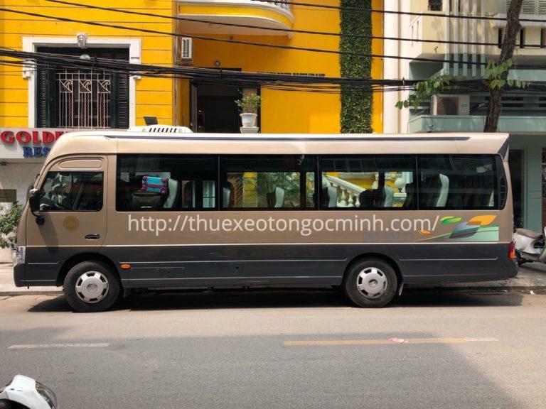 Công ty Ngọc Minh cho thuê xe 29 chỗ Huyndai County giá rẻ nhất
