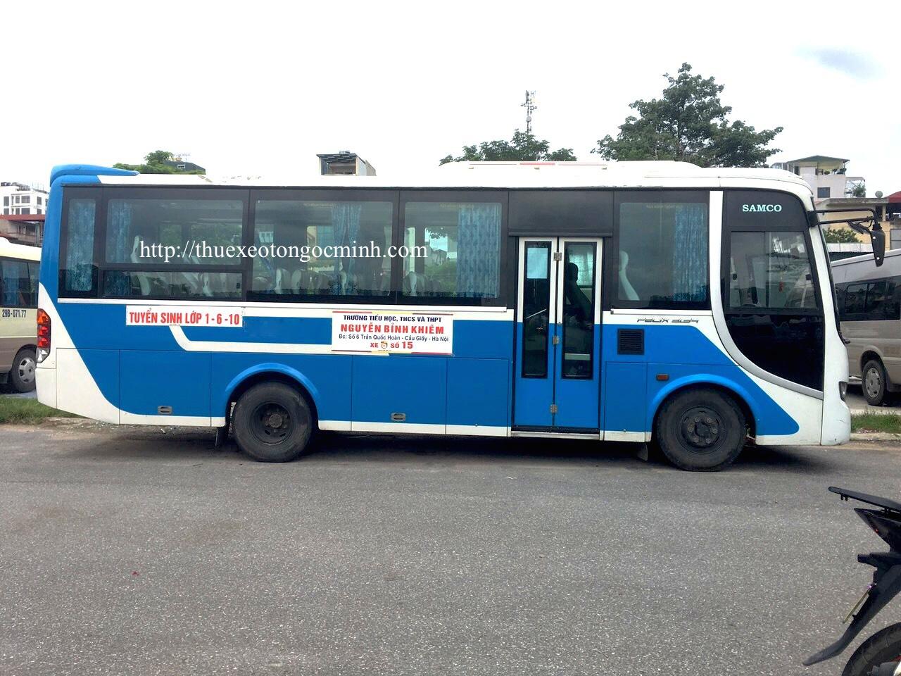 Thuê xe 35 chỗ Hyundai aero Town tại Hà nội