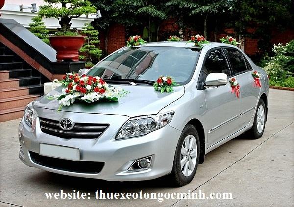 thuê xe cưới Altis tại Hà Nội