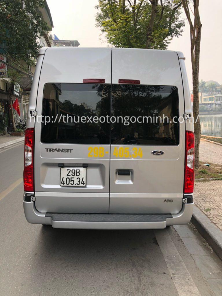 thuê xe 16 chỗ ford transit tại Hà nội