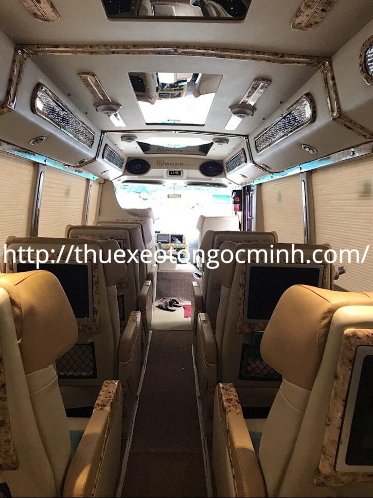 Thuê xe Fuso Rosa Dcar Limousine 12 chỗ tại Hà Nội