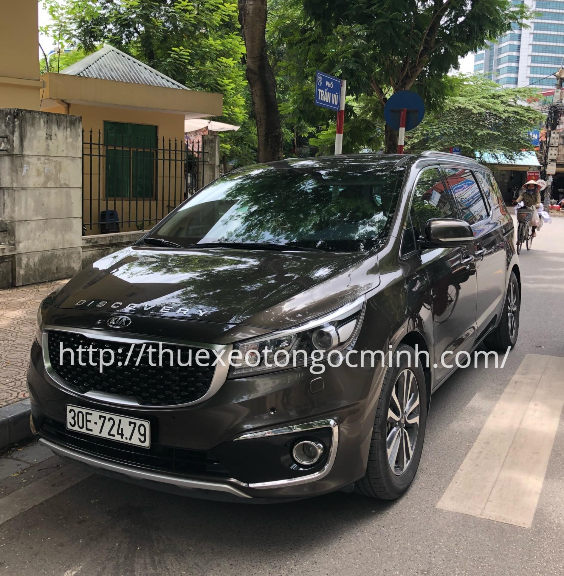 Ngọc Minh cho thuê xe Kia Sedona 7 chỗ có lái tại Hà Nội