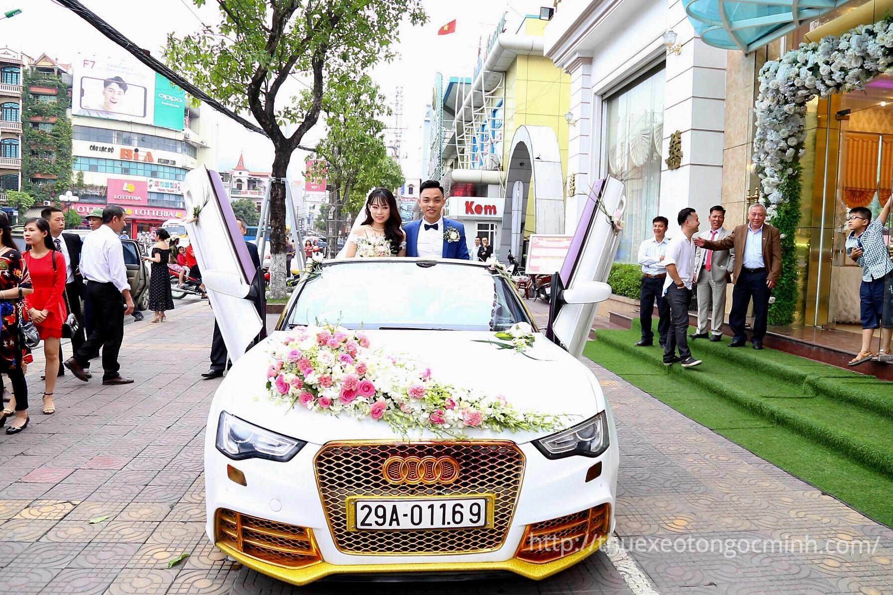 Cho thuê xe cưới đẹp, chất lượng tại quận Ba Đình