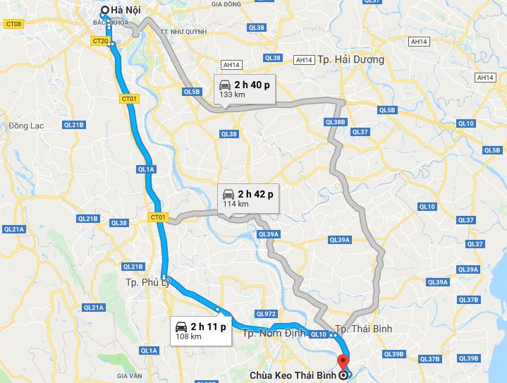 Cho thuê xe 7 chỗ đi chùa Keo - Thái Bình
