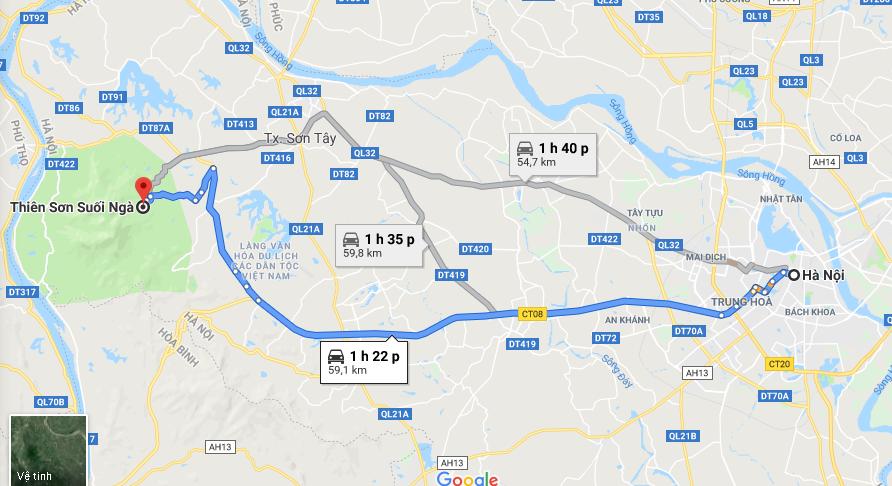 Lịch trình cho thuê xe đi Thiên Sơn Suối Ngà