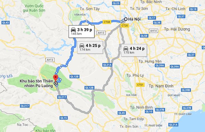 Lịch trình đi Pù Luông - Thanh Hóa từ Hà Nội