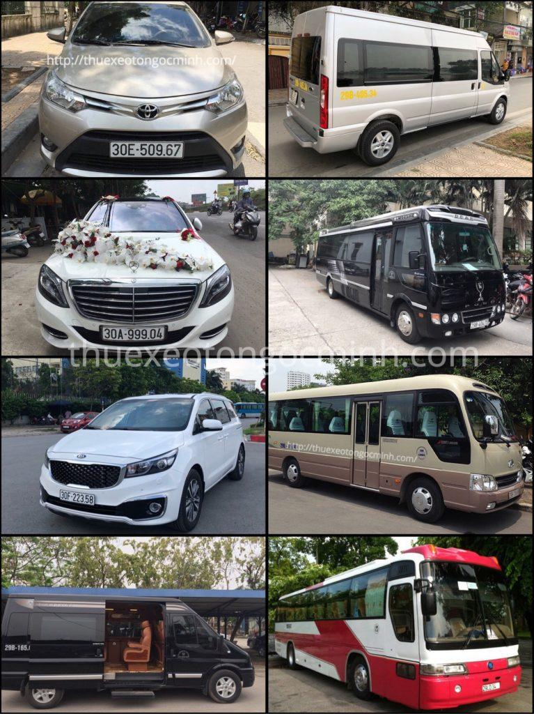 Các dòng xe cho thuê của công ty Ngọc Minh